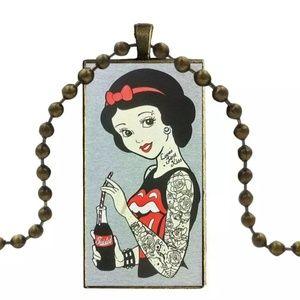 Snow White Tattooed Punk Princess Necklace Gothic